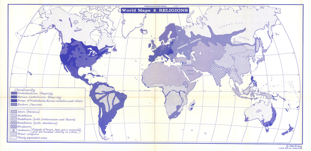 Map of Religions - $1 download for personal use