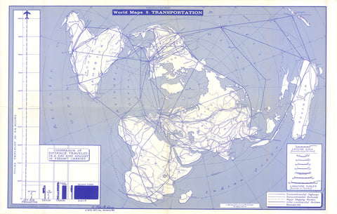 Lenz 1964 Map of Transportation * digital license $100 and up