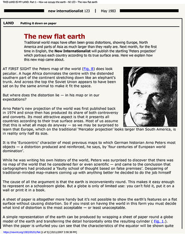 The new flat Earth - May 1983 * digital - free * from New Internationalist Magazine