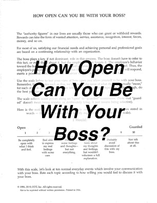 How Open Can You Be With Your Boss? Questionnaire * digital free * (Empowerment) 2-pages