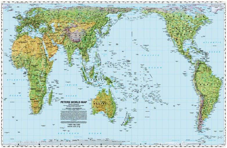 Equal Area Map Pacific centered Peters Equal Area Map Combo Pack   50 paper maps  Equal Area Map