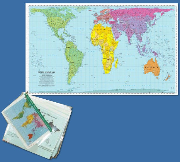 Peters Map Mini Display with Mercator Comparison Panels