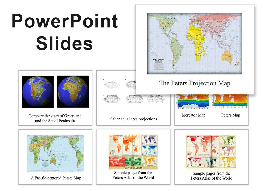 Peters Map PowerPoint Slides (over 100 images) - $8.95 download - ON SALE $1.95