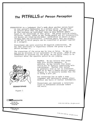 Pitfalls of Perception 6-pages, diversity seminar handout * digital download * free