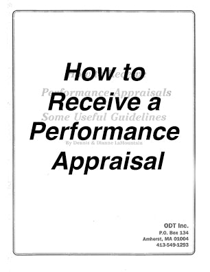 How to Receive a Performance Appraisal * digital free * (Empowerment) Seminar Workbook