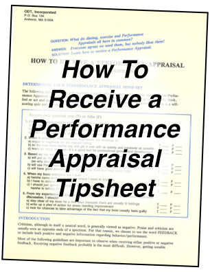 How to Receive a Performance Appraisal * hardcopy * (Empowerment) 4-page tipsheet