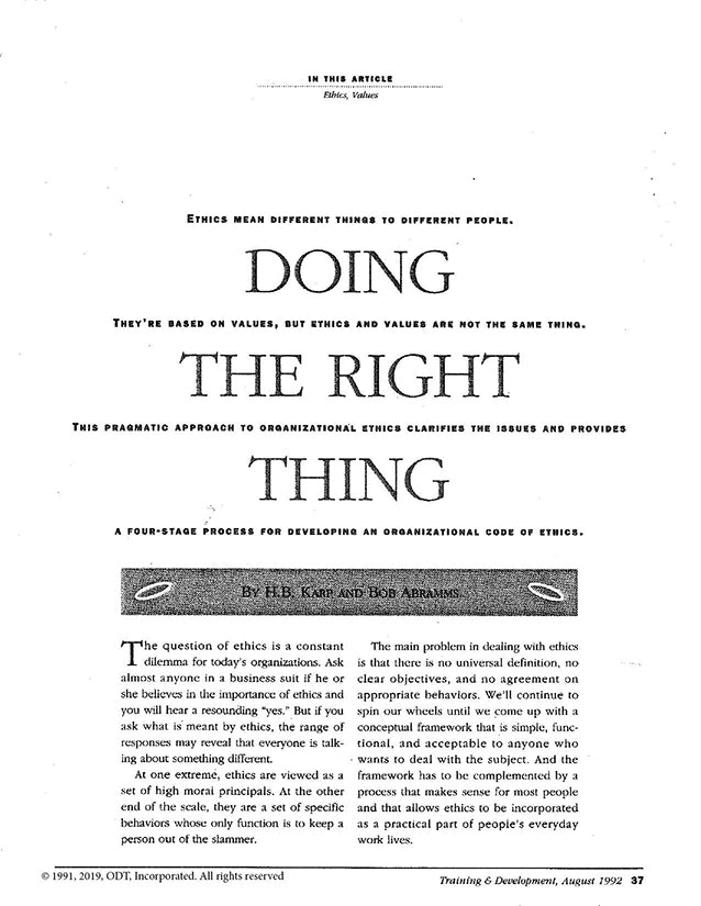 Doing The Right Thing * digital free * (Diversity) 5 pages