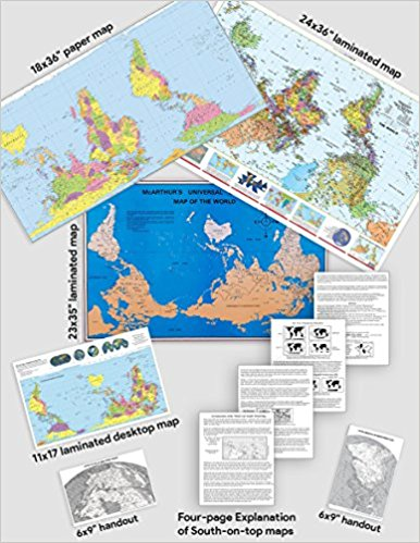 South-on-Top Map Combo Pack - $49.95