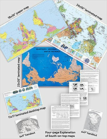 Equal Area & South-on-Top Map Combo Packs - 2 for $99
