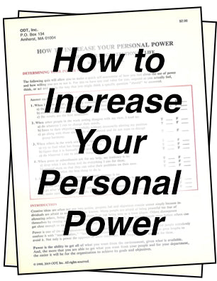How to Increase Your Personal Power * digital free * (Empowerment) 4-page tipsheet
