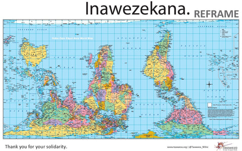 Hobo-Dyer - Twaweza custom wall map SOLD OUT