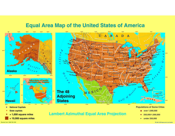 Peters Projection Resource Combo Pack 24x36 inch laminated map - latest edition