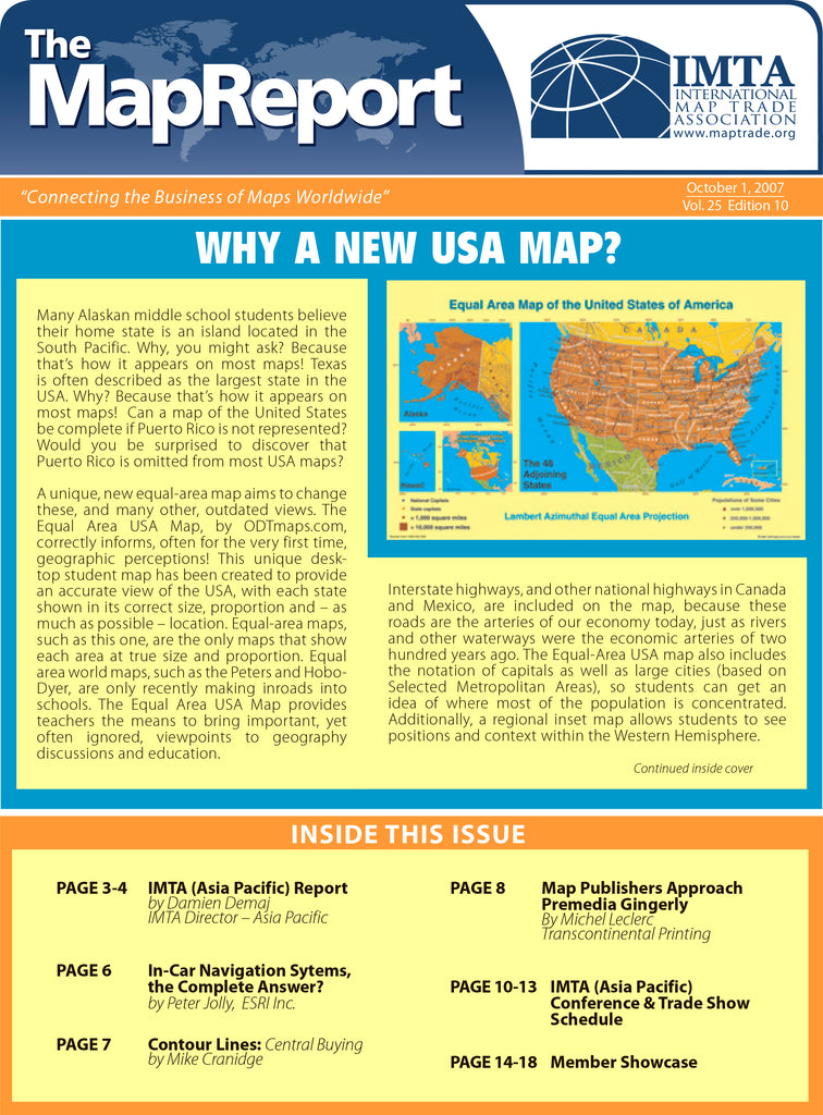 Why A New USA Map?  Free download from THE MAP REPORT