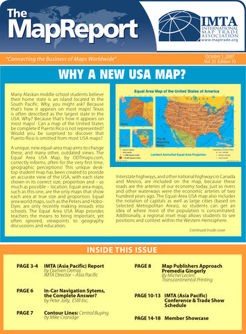 Why A New USA Map?  * digital - free * from THE MAP REPORT