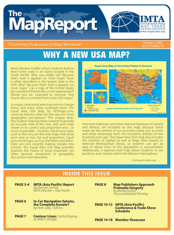 Why a New USA Map? - hardcopy article reprint from The MapReport