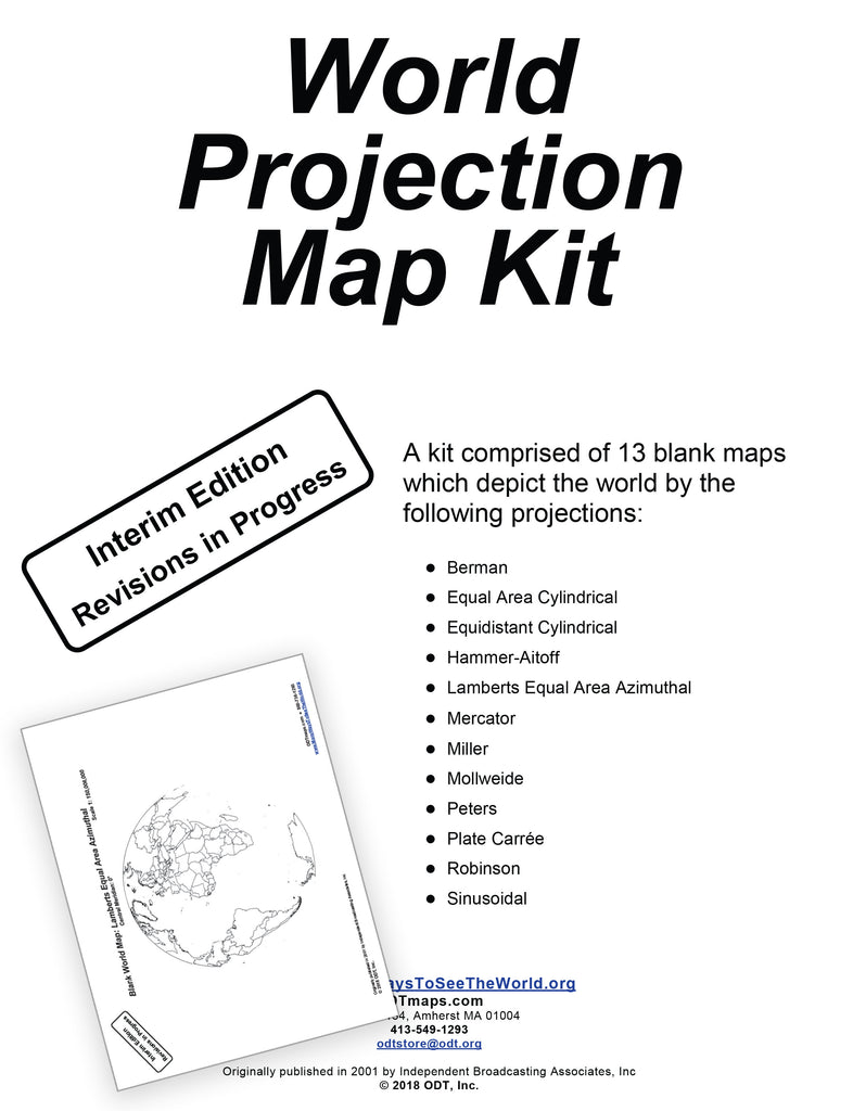 World Projection Map Kit * digital - free * 13 pages