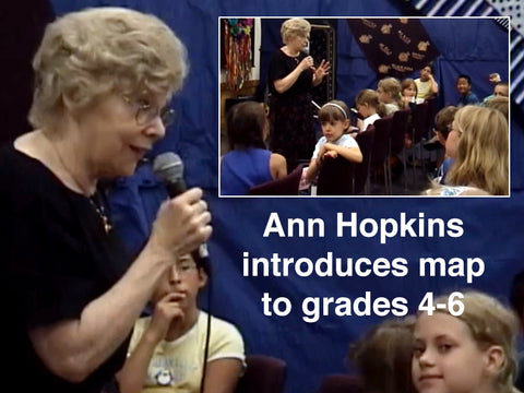 Ann Hopkins introduces the Peters Map (and others) to grades 4-6 * digital - free * video
