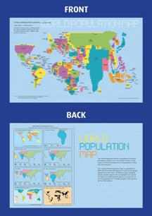 Population Desktop Map - 2015 - 11x17 - FREE sample copy