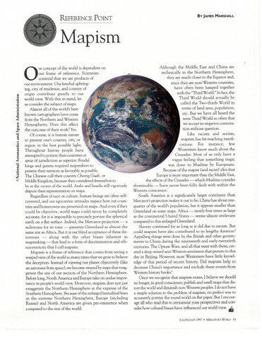 """Mapism"" article by Jim Marshall * digital - free * from Mercator's World magazine"