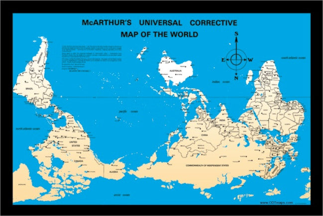 Mcarthurs Universal Corrective Map Of The World McArthur Map card   10 pack, or 25 pack – Many Ways To See The World