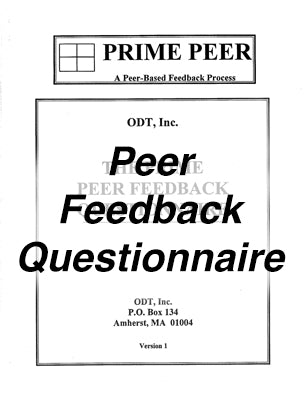 PRIME Peer - Soliciting Peer Feedback * digital free * (Empowerment) Questionnaire