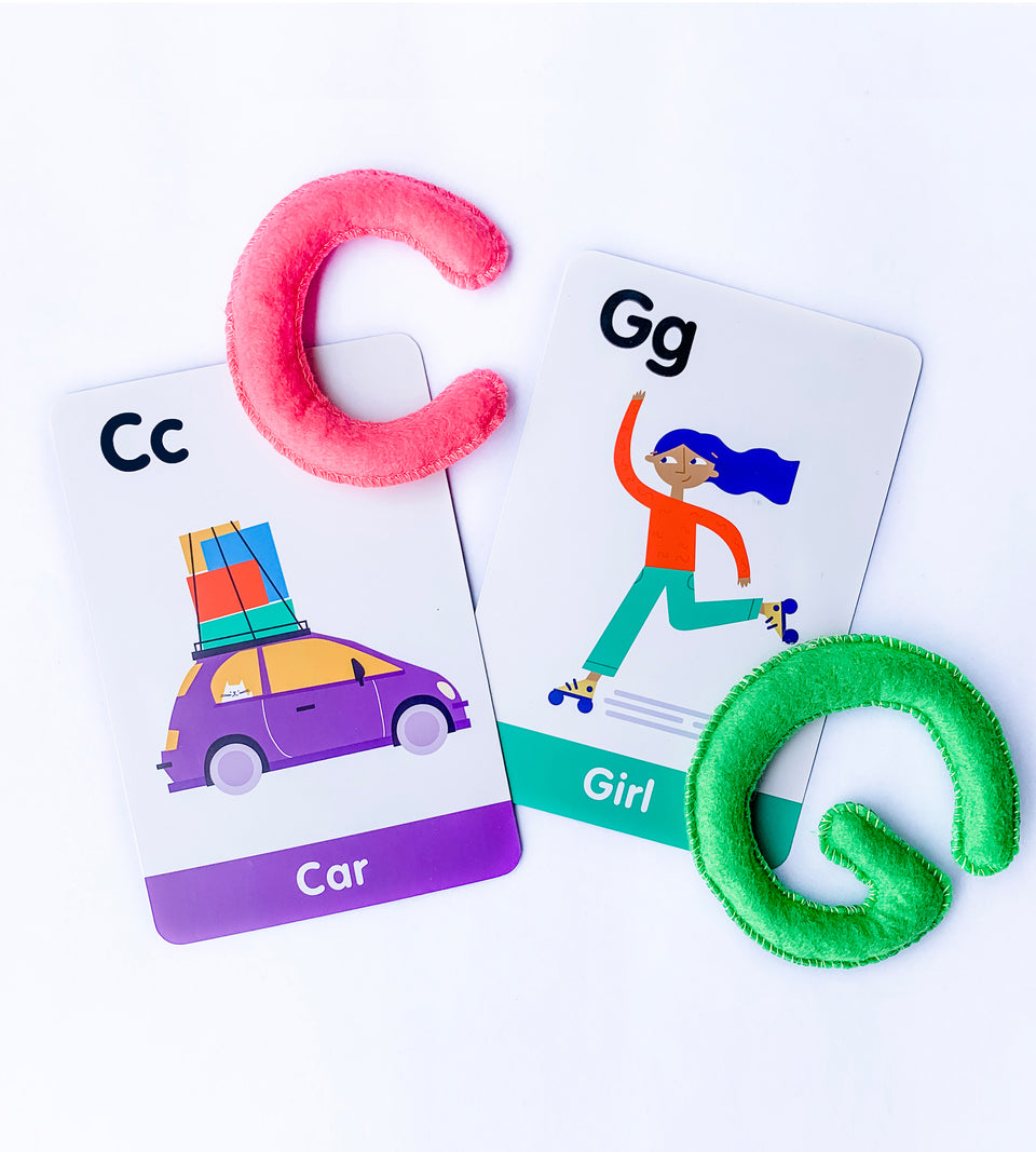 ABC Uppercase Felt Alphabet & Flashcards