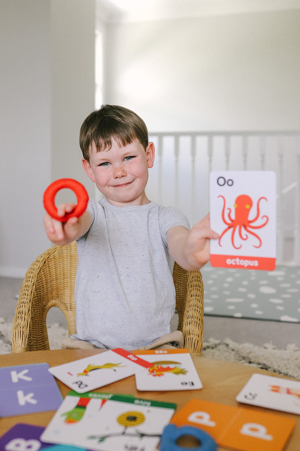 abc lowercase felt alphabet & flashcards