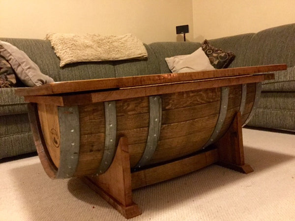 Half Barrel Coffee Table