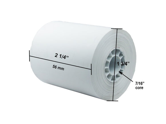 Thermal paper rolls 2 1/4 x (75 ft) 100 rolls