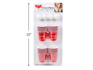 Beer Pong- 20 2oz Mini cups and 4 balls - 12 units per master case