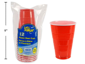 Beer Cups- Classic Red Cup - 12 per indvidual pack- 36 packs per case