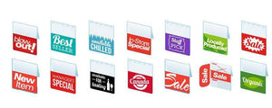 Shelf Tags-Assorted variety pack -Free shipping in Canada and the USA- No minimum order!