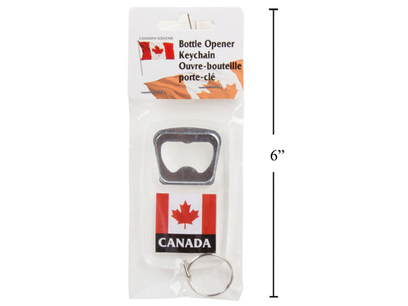 Canada Flag Key Chain Bottle Opener - 96 per case