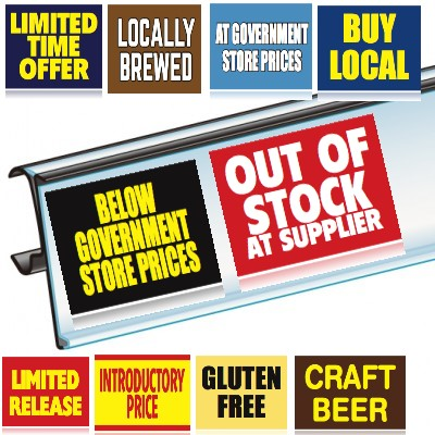 Shelf Talker price channel inserts-19 styles-5 per pack- mix and match - Free Shipping!