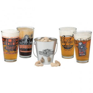 Harley Davidson - Pit Stop Pint Glass Snack Set