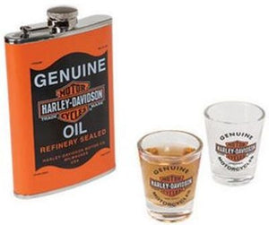 Harley Davidson- Oil Can Flask Set