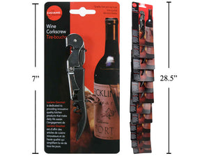 Wine Bottle Opener- Luciano 2-1 Corkscrew and Bottle opener 24 units per case