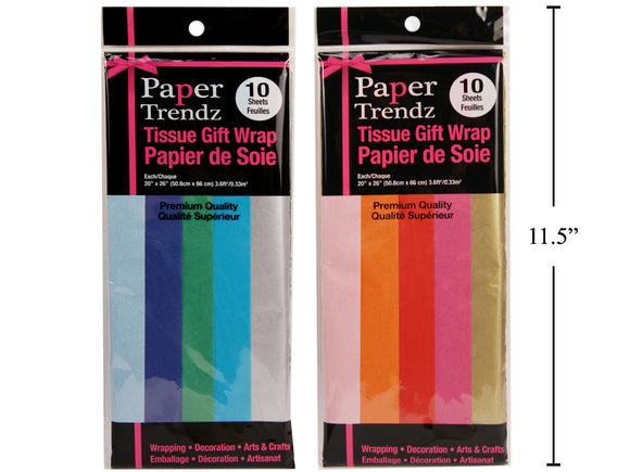 Tissue Wrappng Paper, 2asst., 5Col Asst. 5 colour-Tissue Paper - 96 per master case