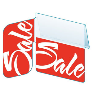 "Shelf Tags ""Sale"" in Italic print with right angle display-25 per pack-Free shipping to Canada & USA- No minimum order!"