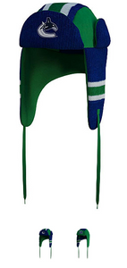 Vancouver Canucks®- Trapper Hat -Reversible -Free Shipping!
