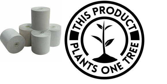 Phenol Free 3 1/8 x 3 215ft thermal paper $5 donated to onetreeplanted.org!
