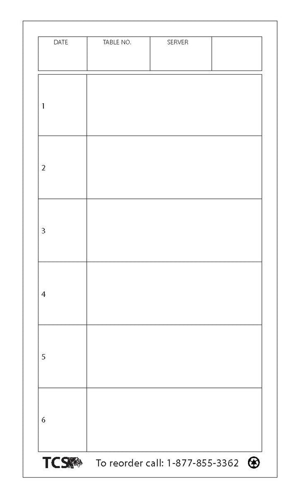 Lined Server Note Pads - 200 per case-FREE SHIPPING