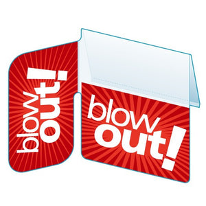 "Shelf Tags ""Blow Out"" right angle and flat mount- 25 per case"