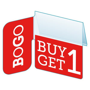 "Shelf Tags ""BOGO"" right angle shelf tab - 25 per pack-Free shipping in Canada & USA! No minimum order!"