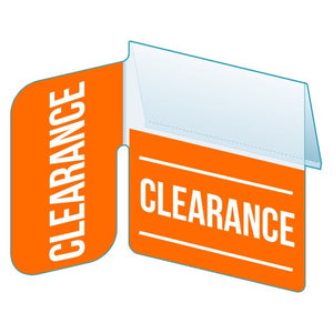 "Shelf Tags ""Clearance"" right angle tab - 25 per pack-Free shipping in Canada & USA! No minimum order!"