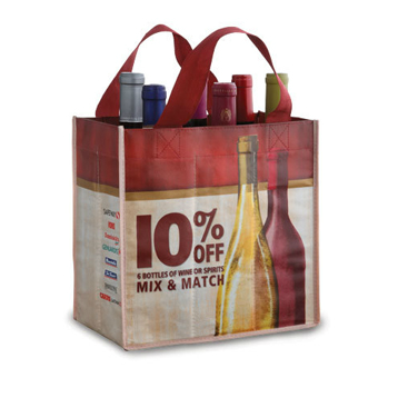 Laminated Nonwoven Wine Bag-*Must Submit Art Work*