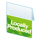 "Shelf Tag ""Locally Produced"" shelf tab- 25 per pack-Free shipping to Canada & USA- No minimum order!"