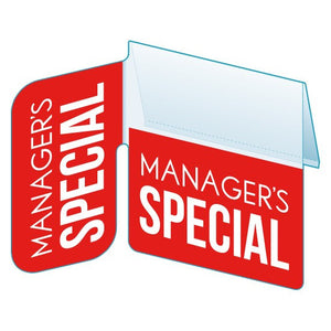"Shelf Tag ""Managers Special"" with right angle- 25 per pack-Free shipping to Canada & USA- No minimum order!"