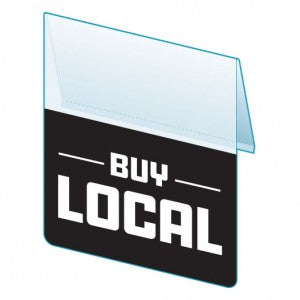 Shelf Tags- Buy Local- 25 tags per case- Free Shipping!