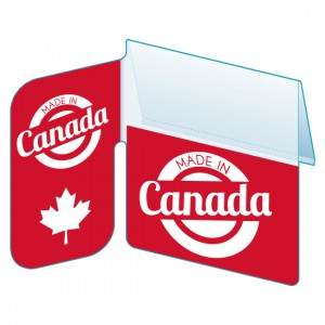 "Shelf Tag ""Made in Canada"" shelf tab - 25 per pack-Free shipping to Canada & USA- No minimum order!"